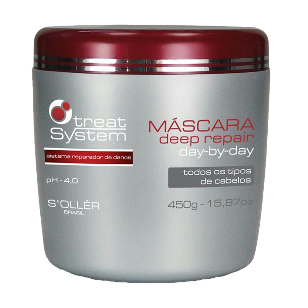 Máscara Treat System Deep Repair Day By Day 450g - S'ollér Brasil