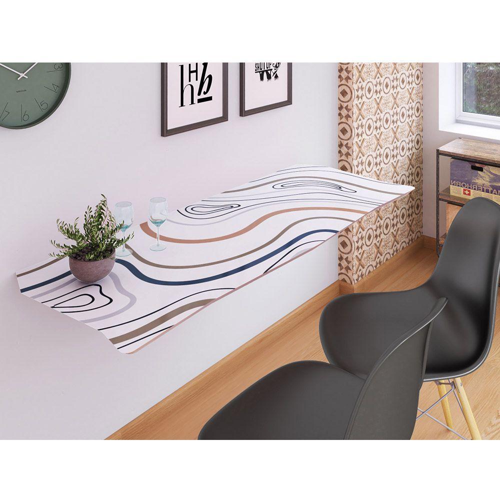 Mesa de Parede Dobrável em MDF Impress 110 cm - Marble