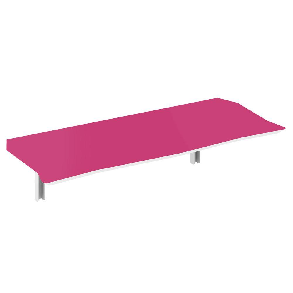 Mesa de Parede Dobrável em MDF Pratice 130 cm - Pink Peacock