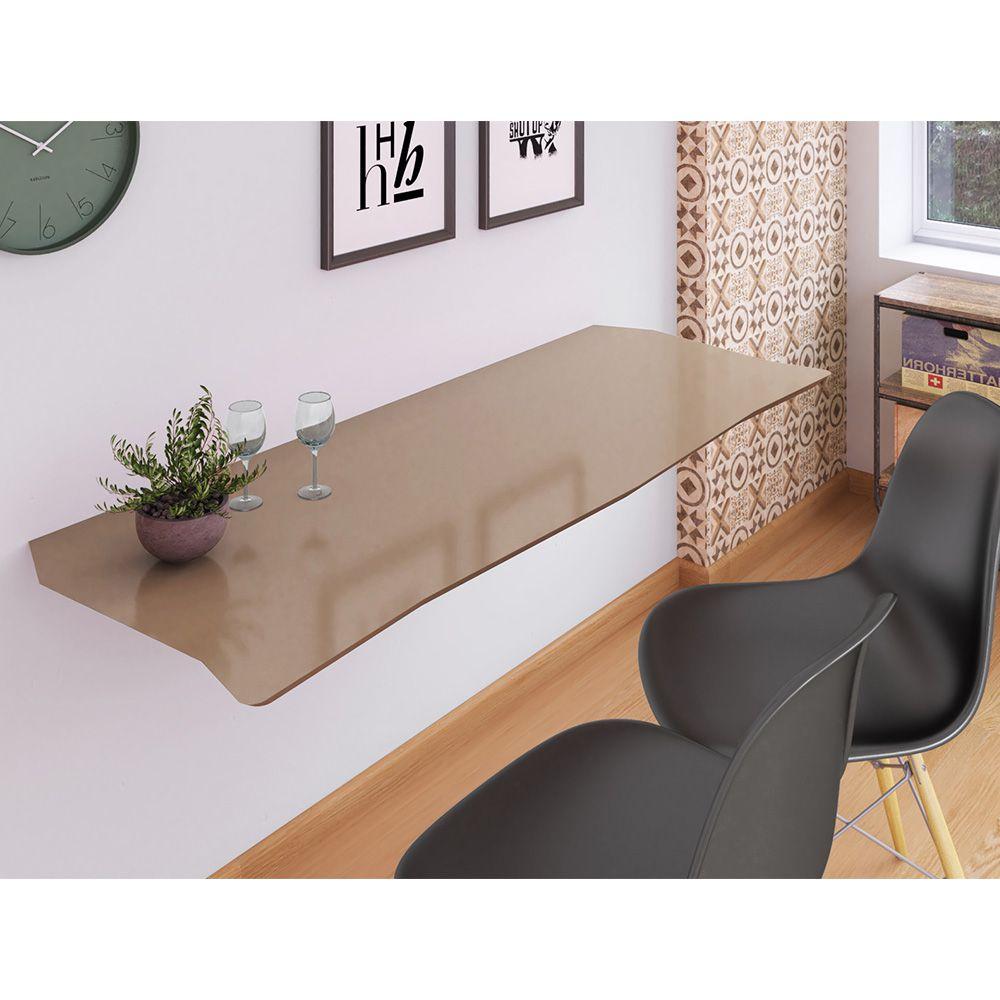 Mesa de Parede Dobrável em MDF Pratice 90 cm - Fendi