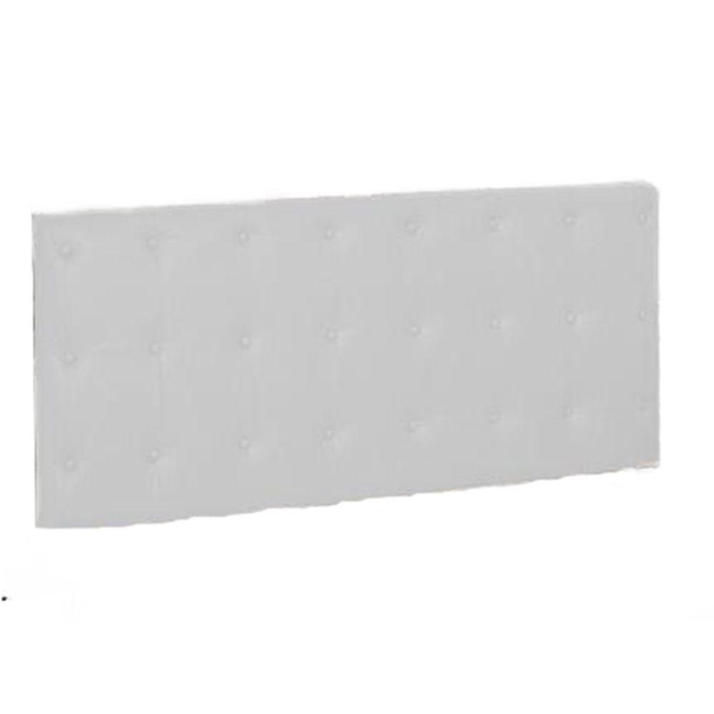 Painel Cabeceira De Casal King 190cm Para Cama Box Toskana Corino Branco - Havai