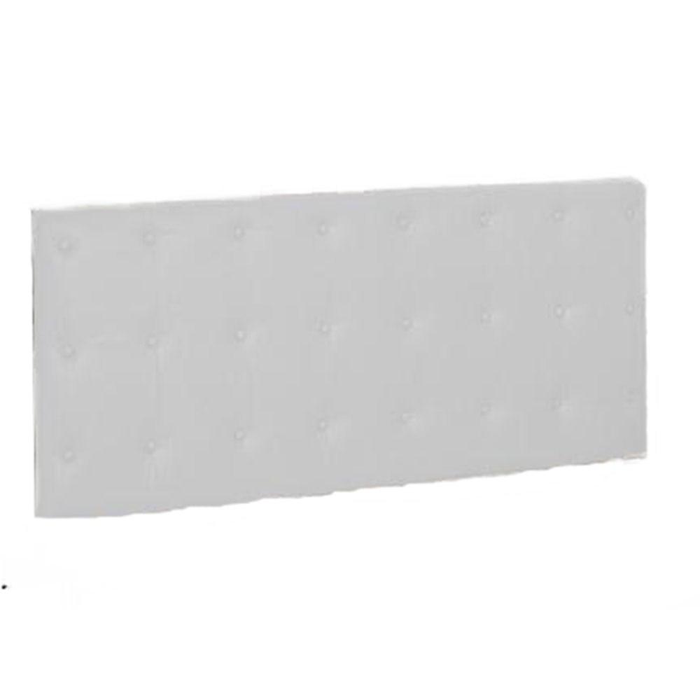 Painel Cabeceira De Solteiro 90cm Para Cama Box Toskana Corino Branco - Havai