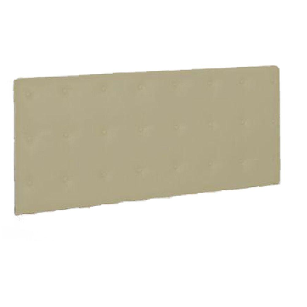 Painel Cabeceira De Solteiro 90cm Para Cama Box Toskana Suede Bege - Havai