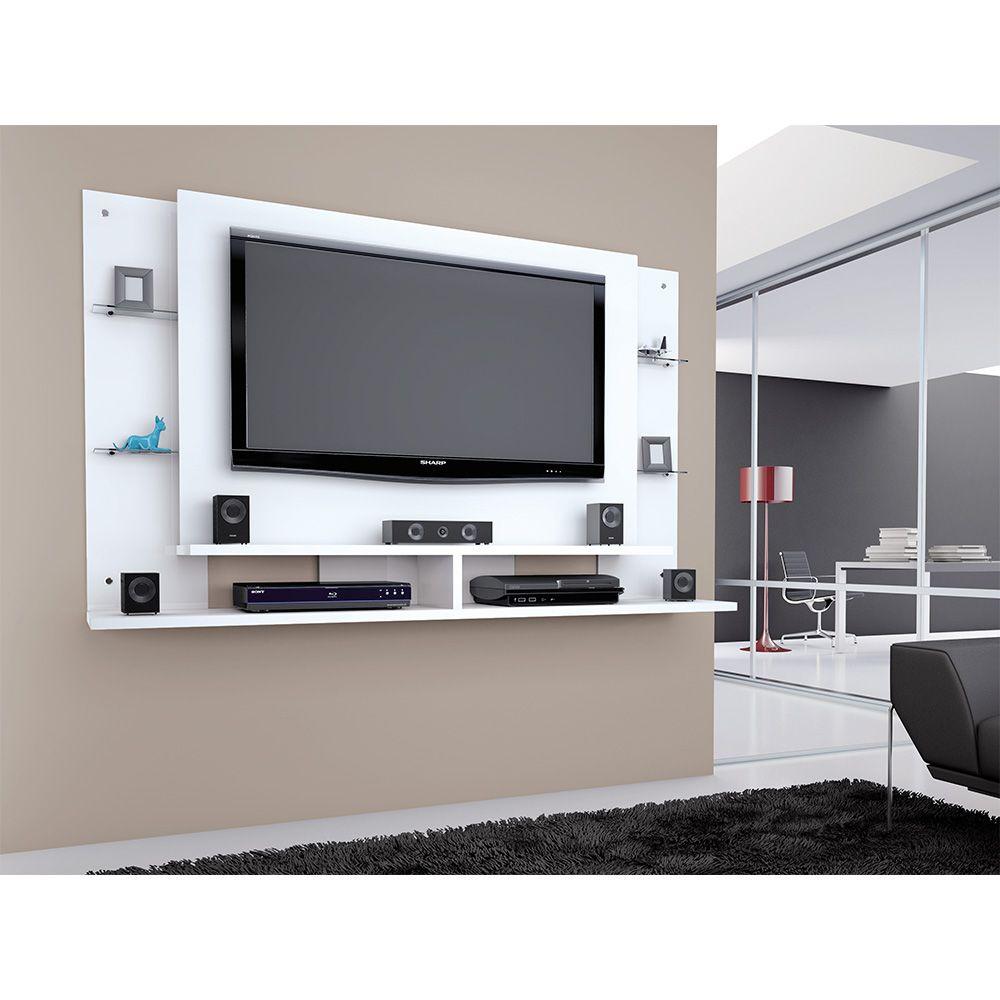 Painel Para TV de Até 55 Polegadas Domínio Branco - Caemmun