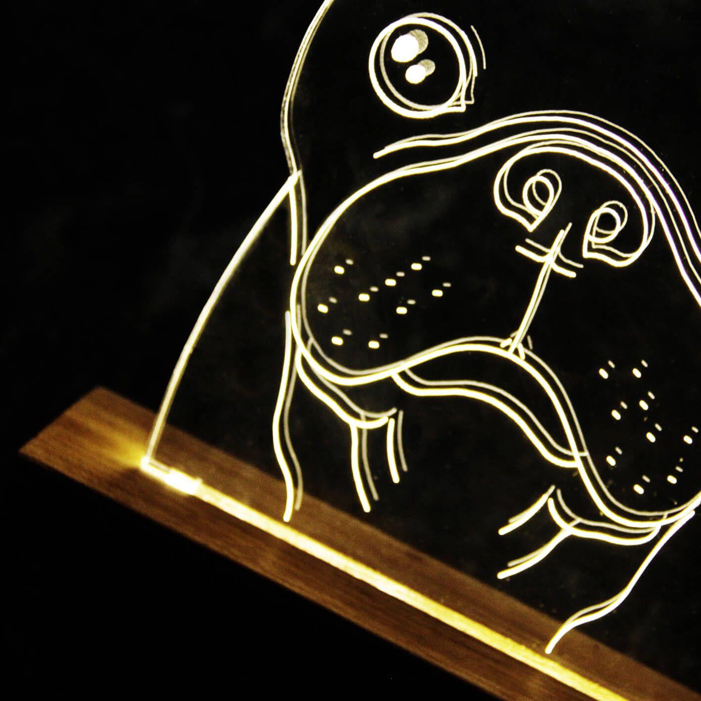 Luminária Buldogue Francês