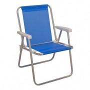 Cadeira de Praia Alta Alumínio Azul Sannet - Mor