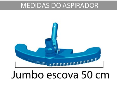 Aspirador Jumbo Escova p/ piscinas de vinil, fibra e alvenaria - Sodramar