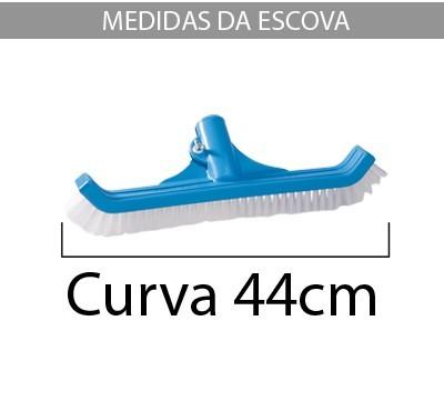 Escova Nylon 44 Cm Para Piscina - Sodramar