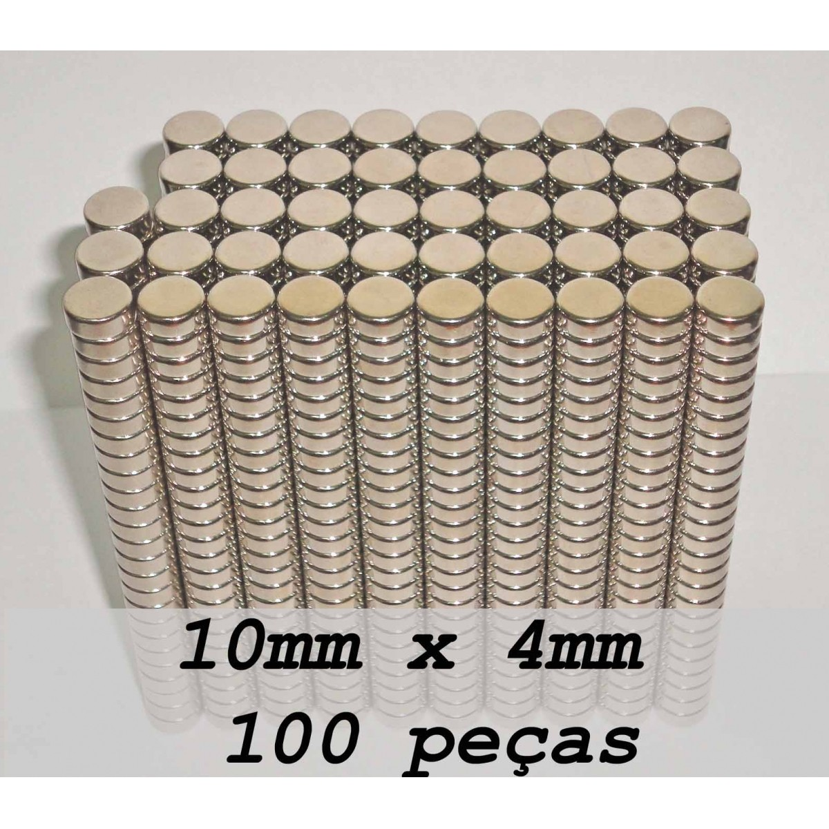 Ima De Neodímio / Super Forte / 10mm X 4mm , 100 Peças