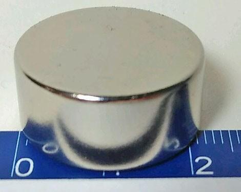 Imãs De Neodímio N45 Super Forte 22mm X 10mm - 1peça