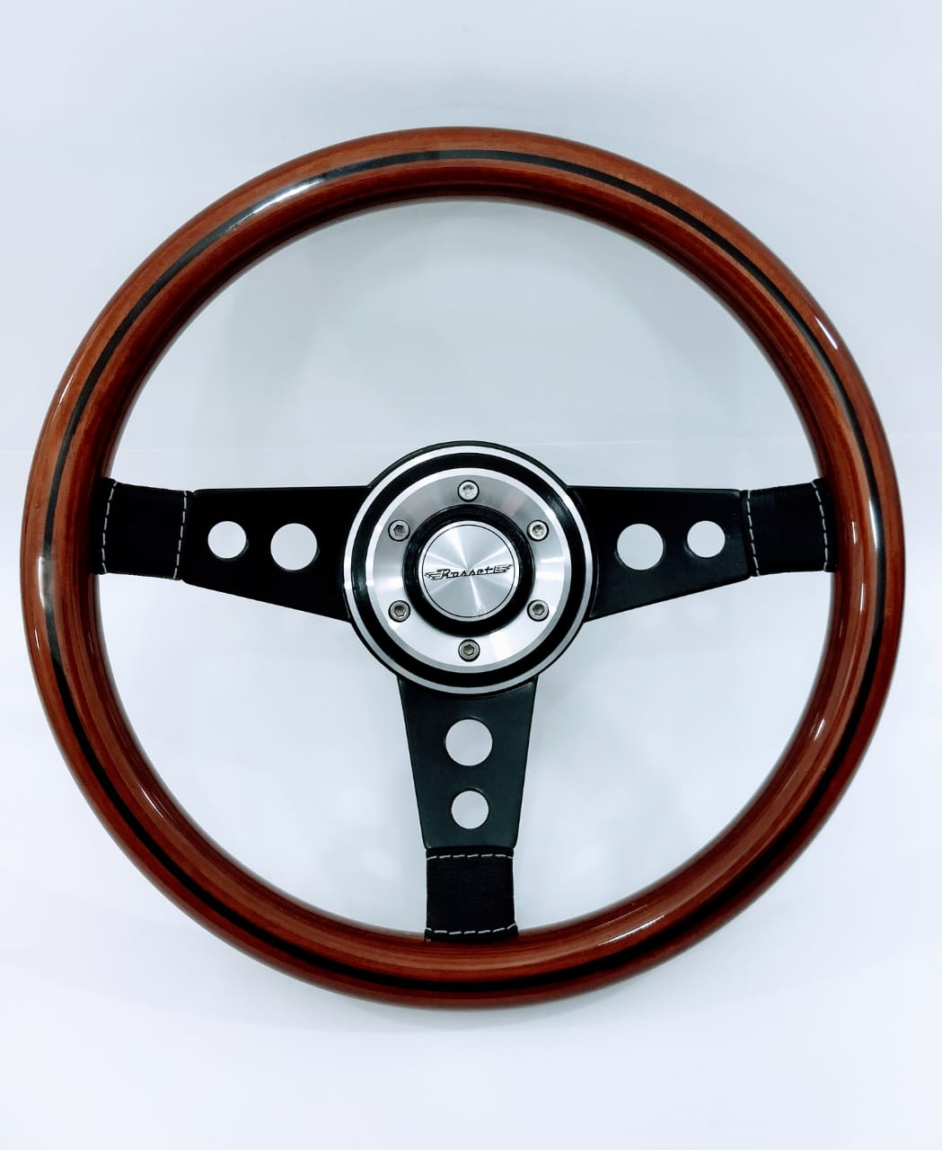 Volante Lenker Racing Madeira Haste Preta