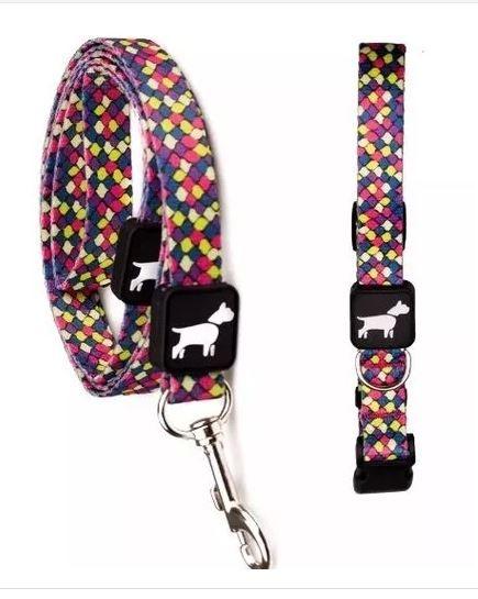 aa64739f1 Coleira e Guia Don Dog - Aquarela - Mundo Acessórios Pet