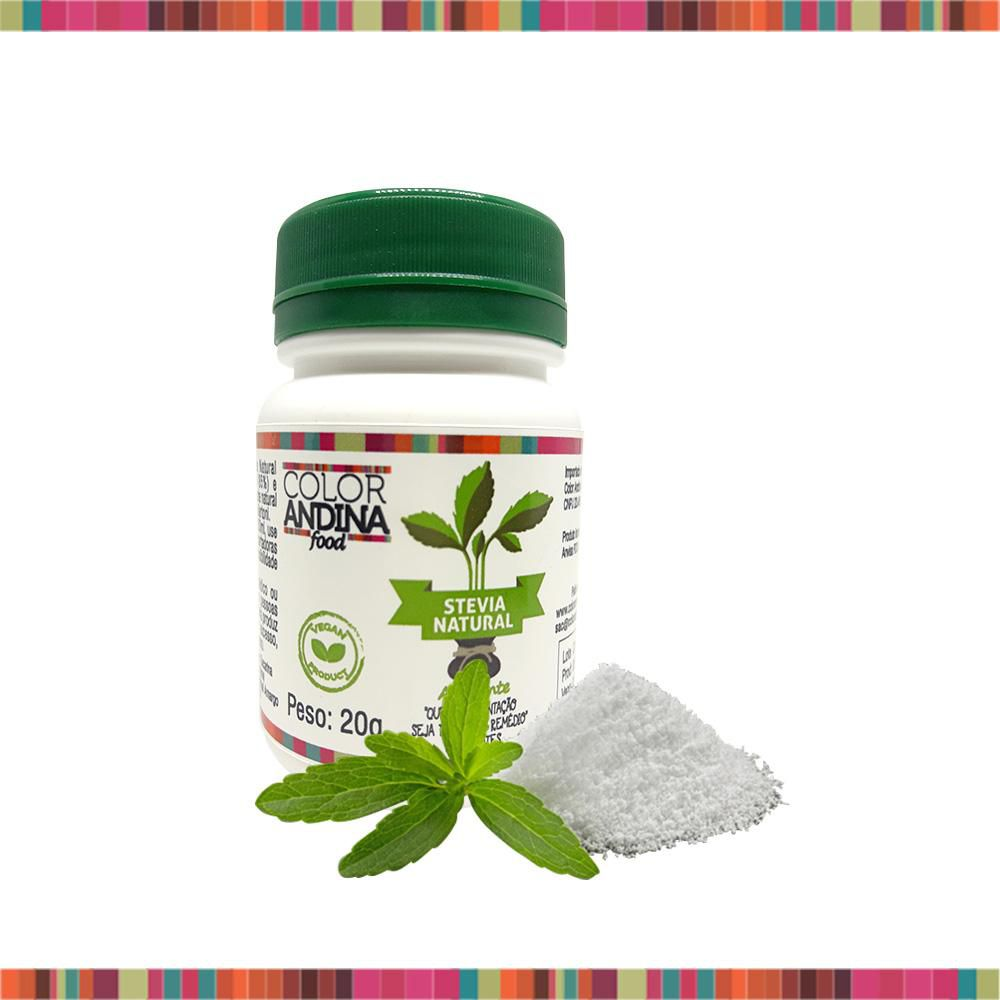 Adoçante Natural Stevia 20g - Color Andina Food