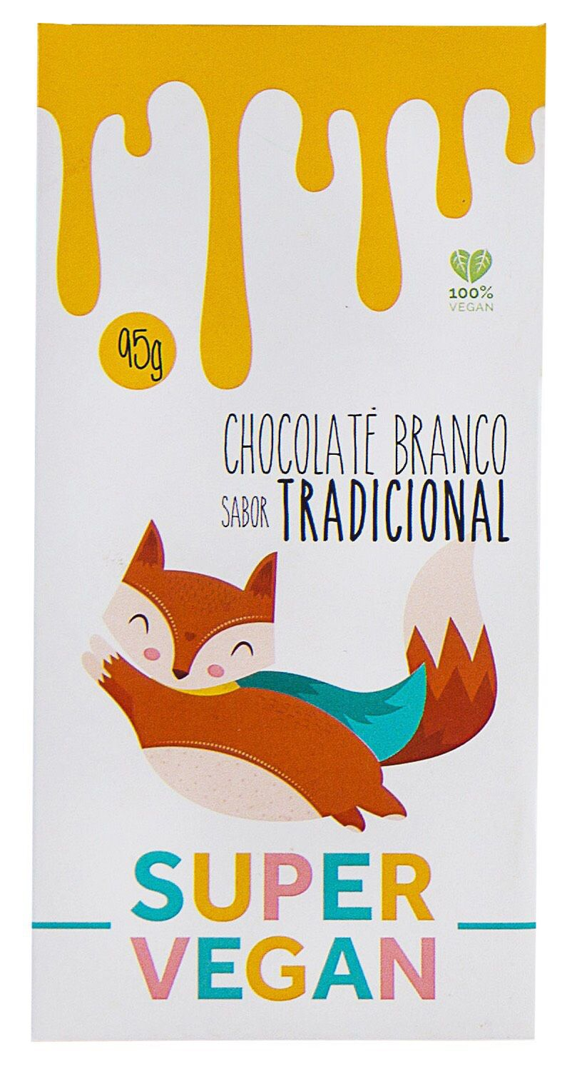 CHOCOLATE BRANCO TRADICIONAL VEGANO 95g - SUPER VEGAN