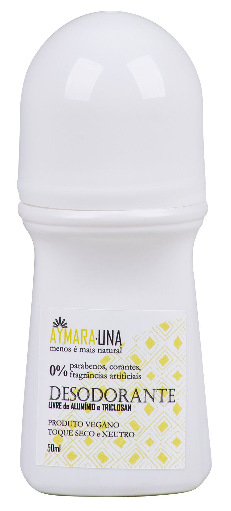 Desodorante Vegano Roll-on toque seco (sem alumínio) Aymanauna -  50ml