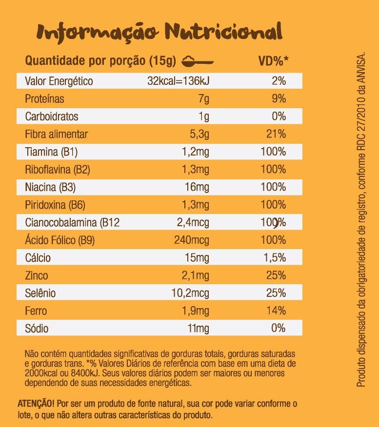 Nutritional Yeast Em Pó (Levedura Nutricional) Bionetic 120g Sabor Provolone