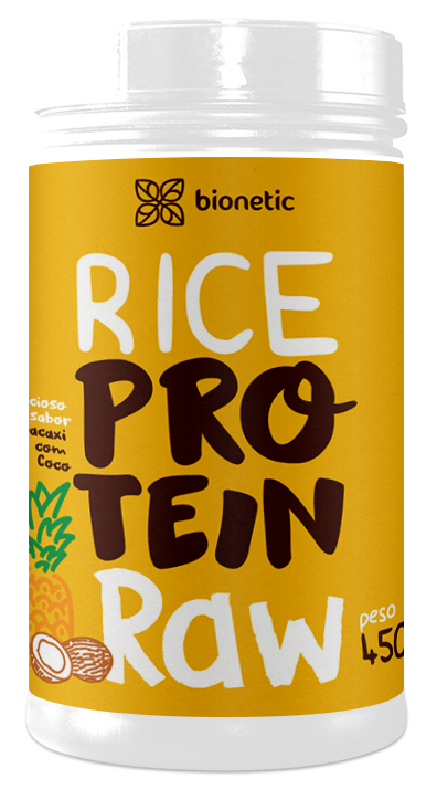 Rice Protein Raw Bionetic 450g Abacaxi e Coco