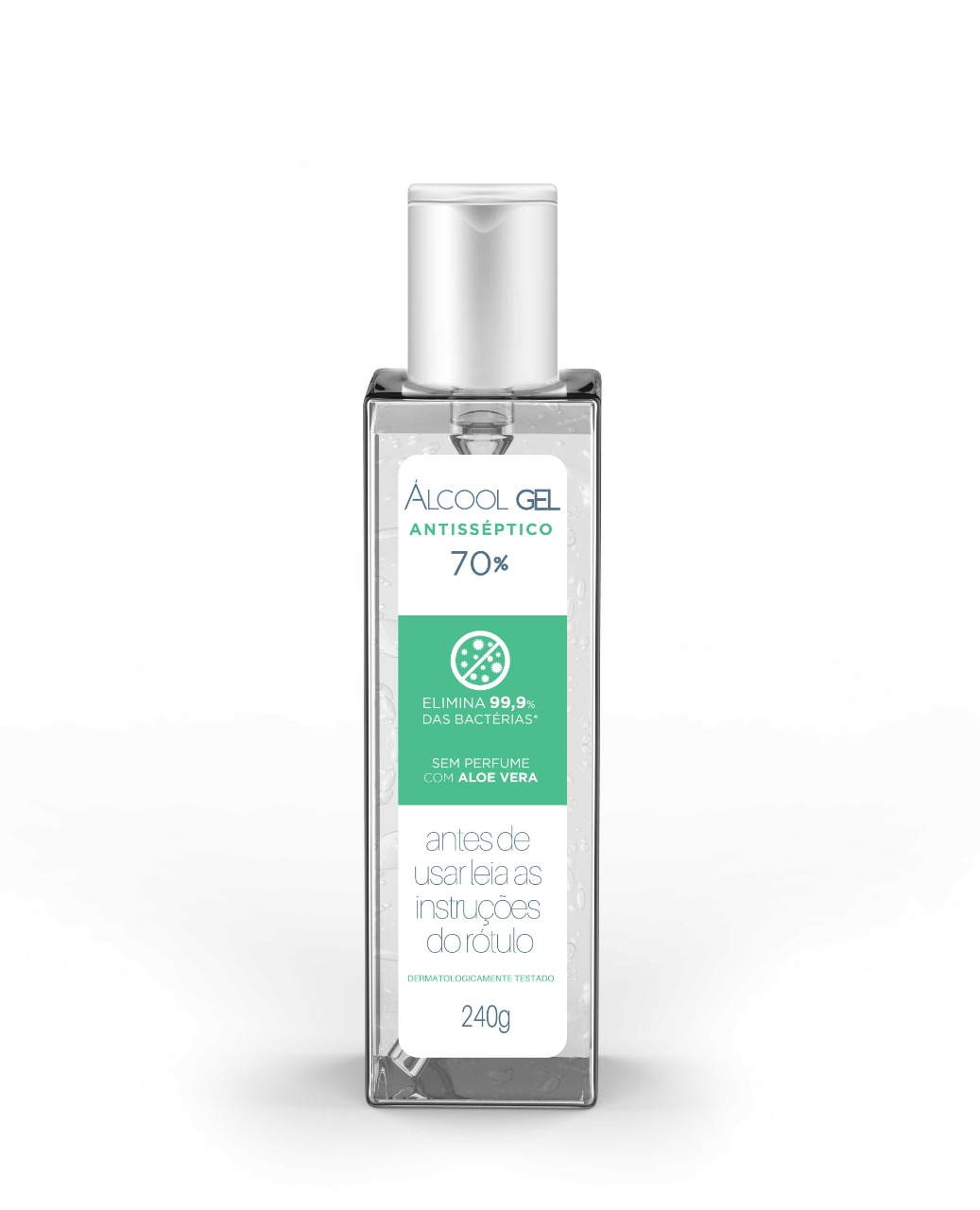 Alcool Gel 70% com Aloe Vera 240g