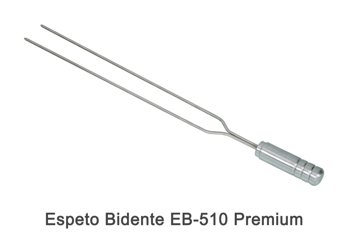 Espeto Bidente EB-510 Premium + Grelha Tradicional GT-4050 Premium + Pega Fácil PF-40 Inox + Pá de Limpeza PL-1 Inox