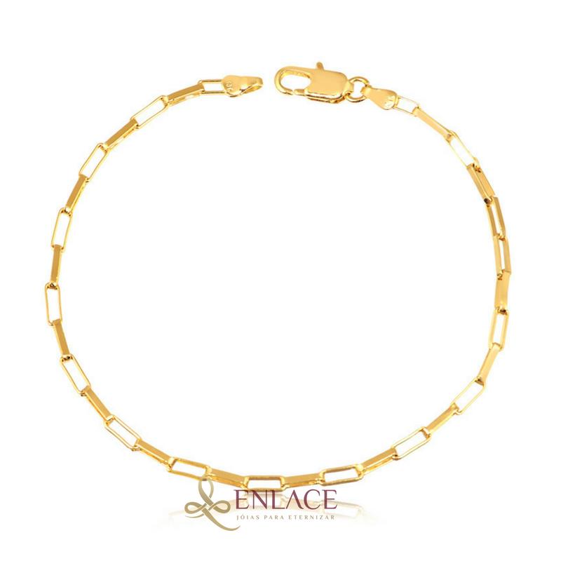 feb6827f76f Pulseira Folheada a Ouro Masculina Cartier - Enlace