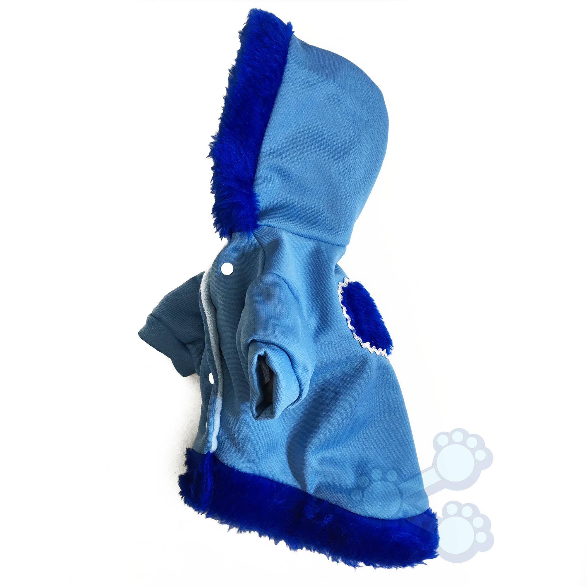 Top PetShare - Roupinha de Inverno para Cachorro Cães Blusa com Capuz Azul ON34