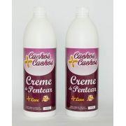 2 Cremes de pentear - Cachos + Cachos  - 1000 ml (cada)