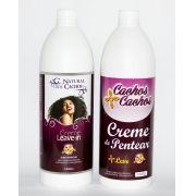 2 Cremes de pentear - Leave-in  e  Cachos + Cachos  - 1000 ml  (cada)