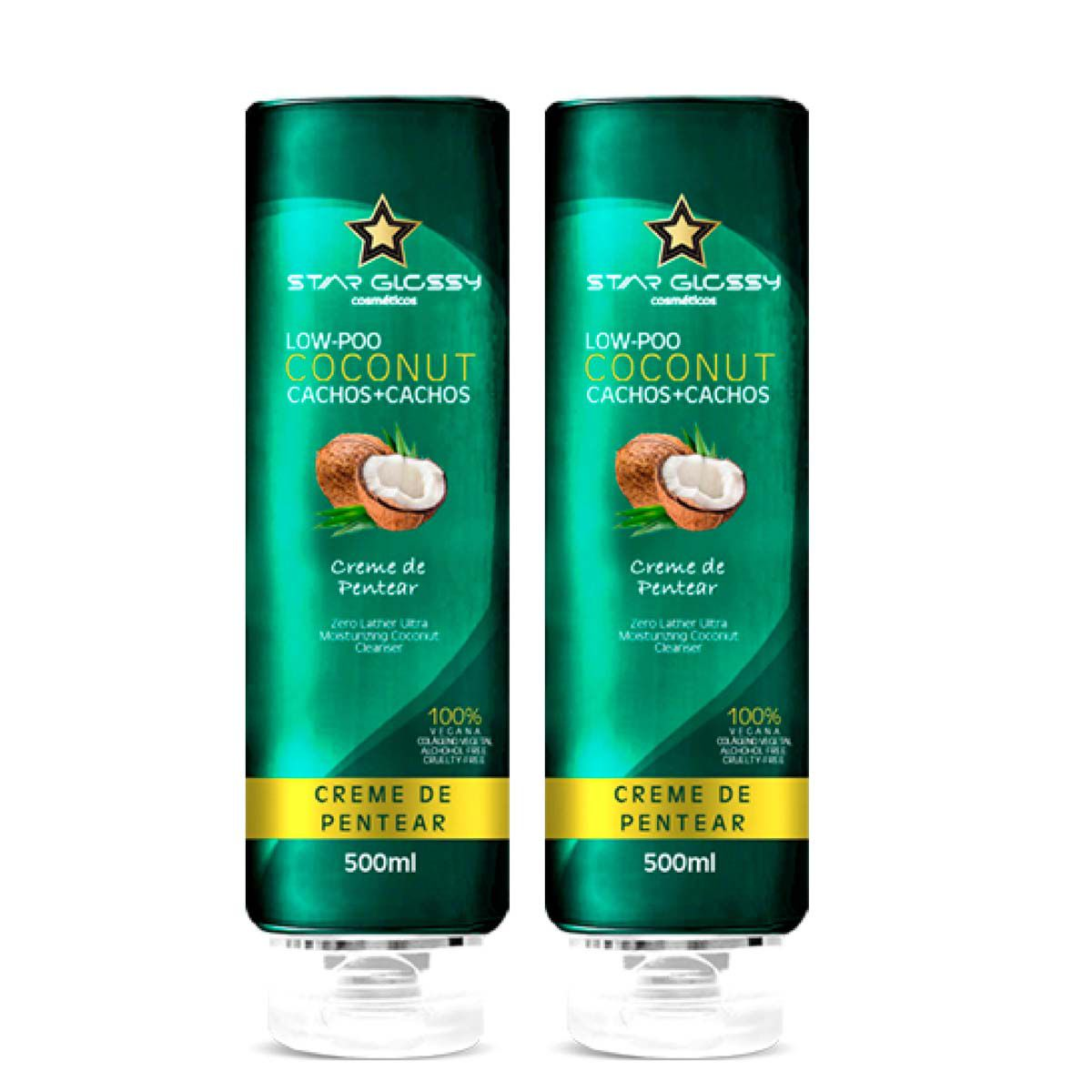 2 Cremes de Pentear - Coconut - Star Glossy - 500 ml (cada)