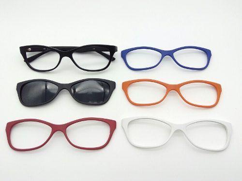 6ff0f911c Óculos De Grau Feminino Gatinho Clipon Troca A Frente 935