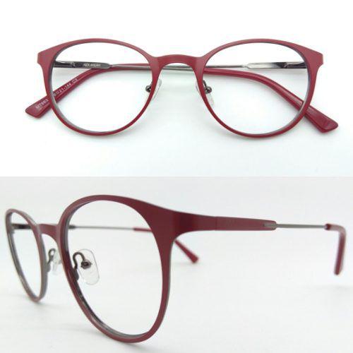 1327c650c Armação De Grau Óculos Redondo Metal Vermelho Fosco 6638-c3 - Alex ...