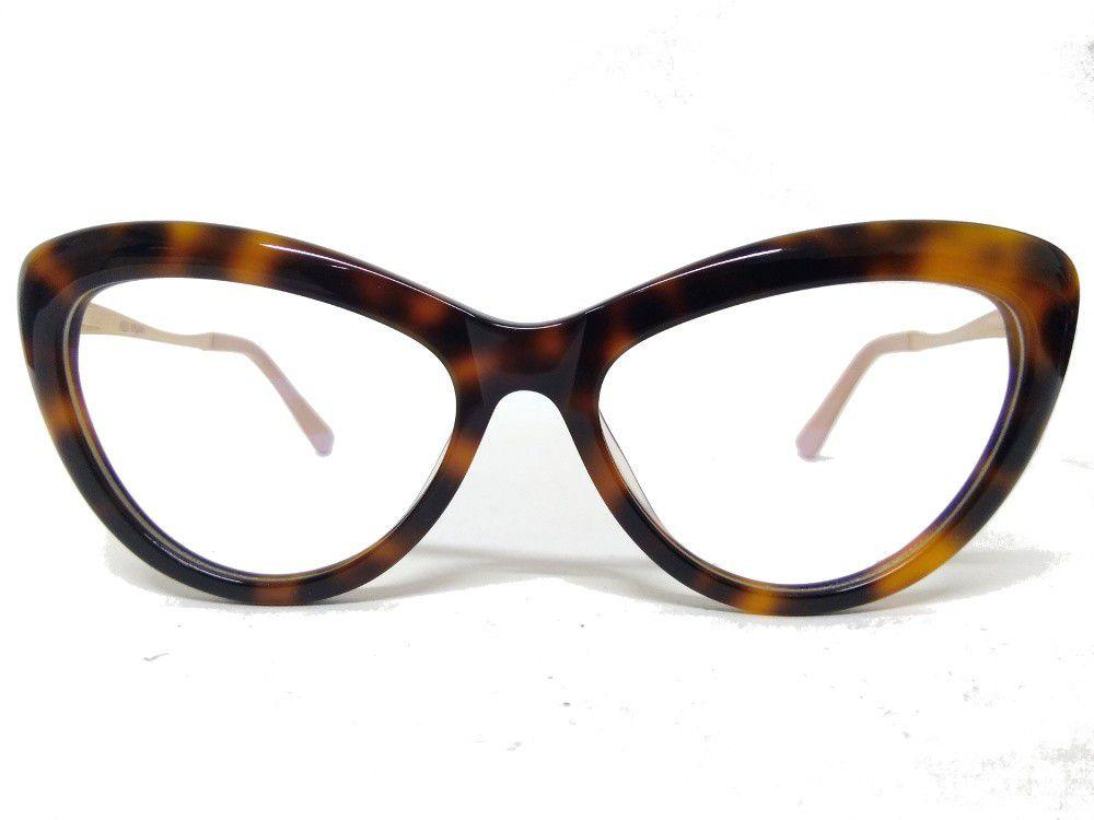 f70a9e0ff Armação Óculos de Grau Alex Milan Gatinho Leopard 6082