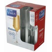 Conjunto 6 Taças para Champagne Vinium Vintia