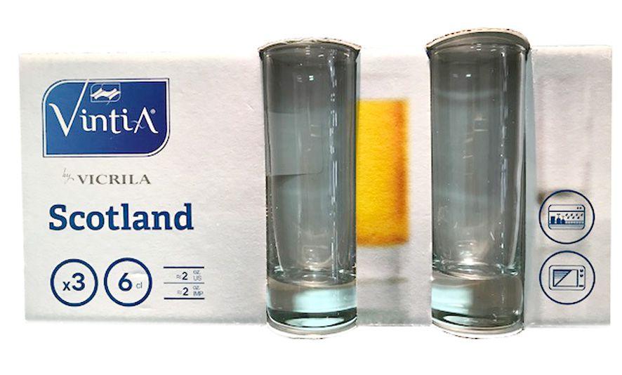 Cjto 3 Copos Scotland para Tequila - 60 ML