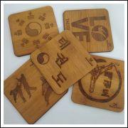 Kit Porta copos  ou quadrinhos de bambu