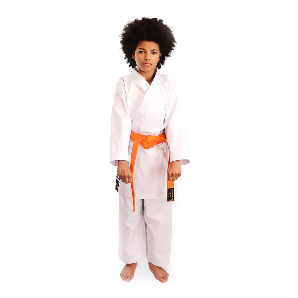 Kimono Tradicional Kumite Canelado com Telinha Infantil