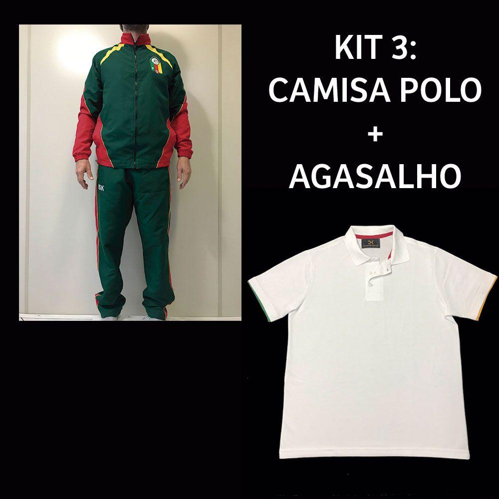 Kit 3: Camisa Polo + Agasalho