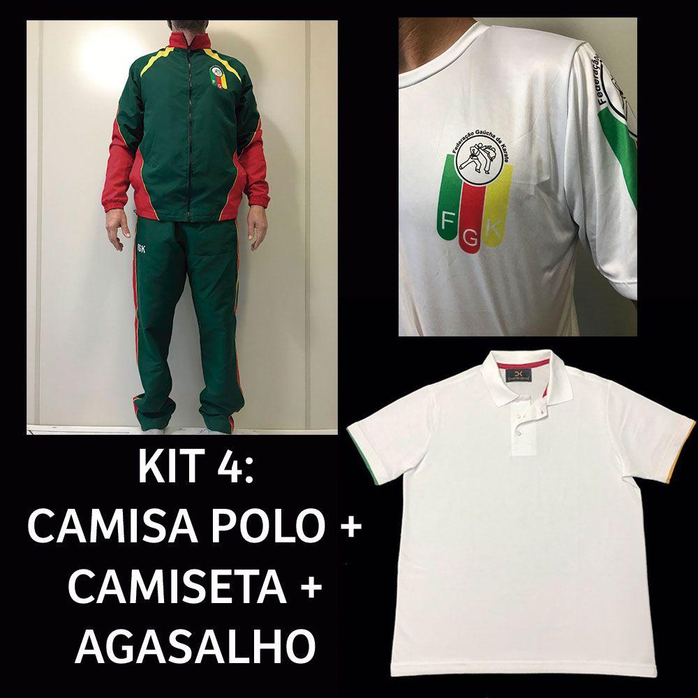 Kit 4: Camiseta + Camisa Polo + Agasalho