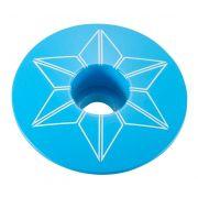 TAMPA DE GUIDÃO SUPACAZ STAR CAPZ - BLUE CLEAR