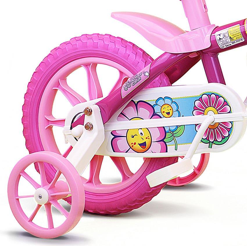 Bicicleta Infantil Aro 12 Flower PU