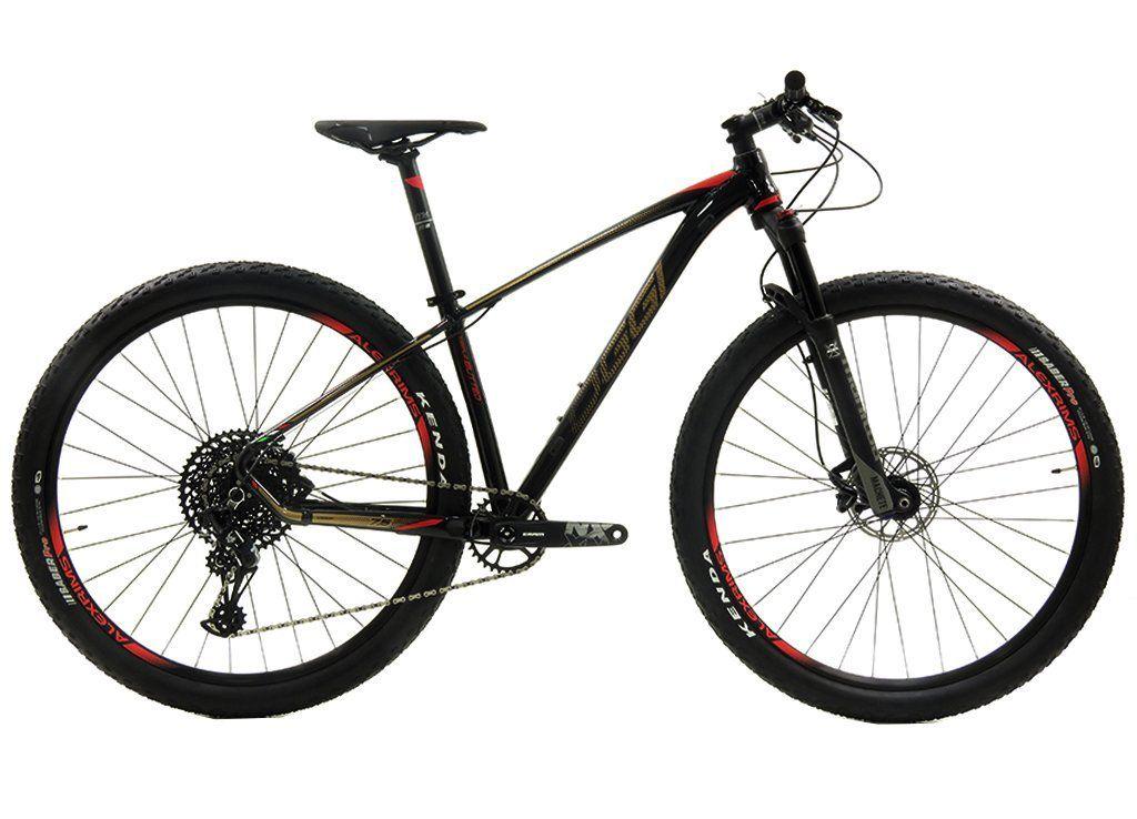 Bicicleta Oggi Big Wheel 7.5 Sram 12v Aro 29 Preto/Dourado/Vermelho (2019)