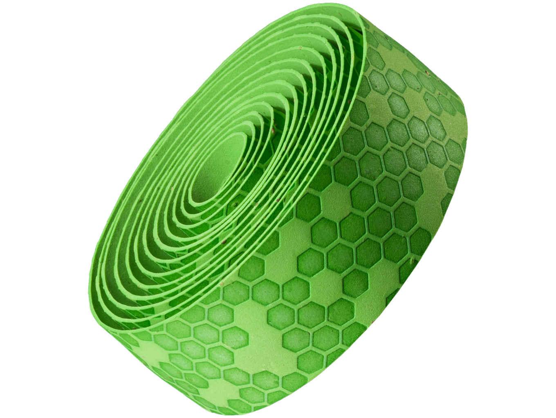 Fita de guidão Bontrager gel/cortiça - Verde