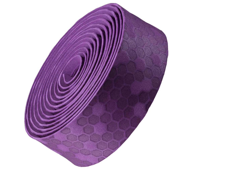 Fita de guidão Bontrager gel/cortiça - Violeta