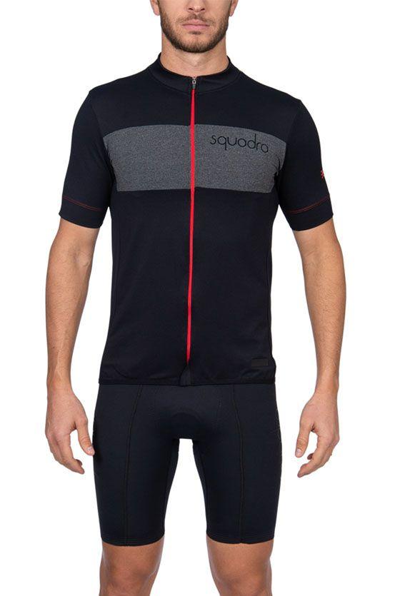 Camisa Ciclismo Squadra Woom Preto e Vermelho - Masc - 2019