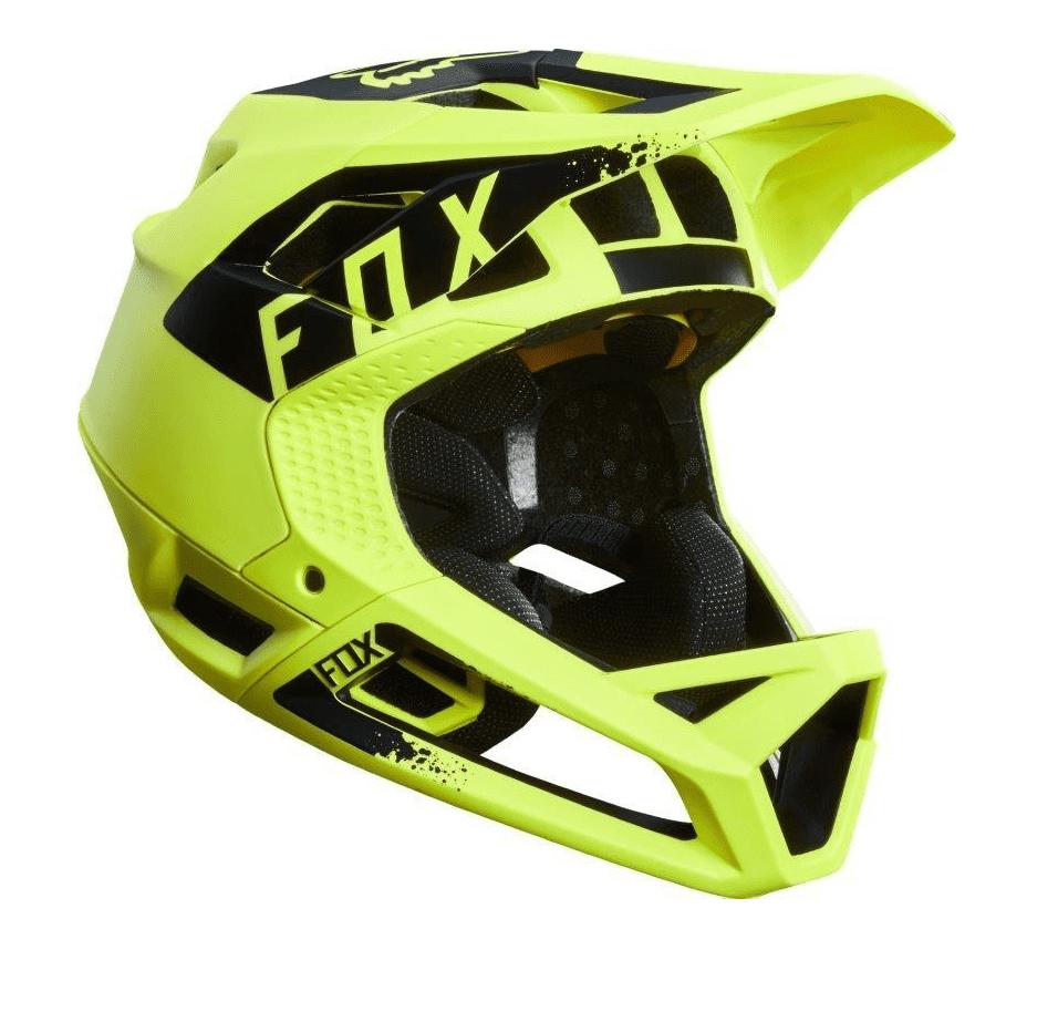 Capacete Fox Proframe Matte Amarelo Verde