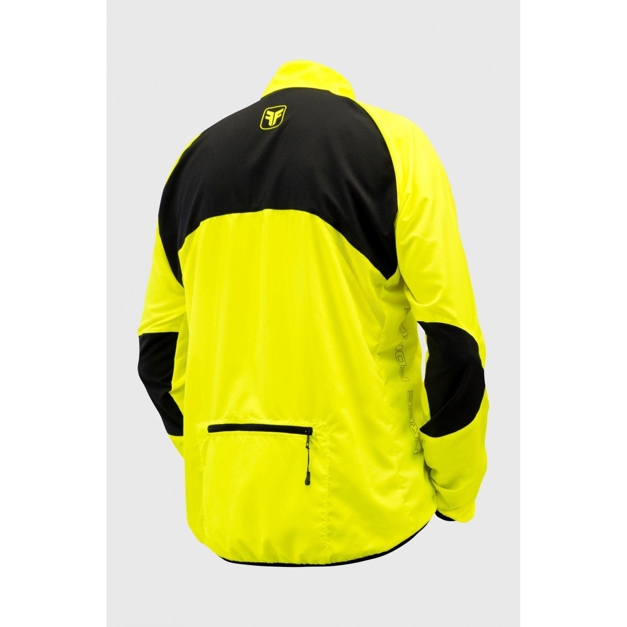 Jaqueta Corta Vento Fit Masculina – Amarelo Flúor