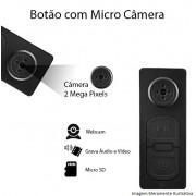BOTÃO COM MICRO CÂMERA ESPIÃ 2MP
