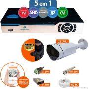 Kit Cftv 2 Câmeras 1080p IR BULLET NP 1002 Dvr 4 Canais Newprotec 5 em 1 + ACESSORIOS