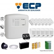 Kit de Alarme Max 4 Residencial Ecp Com 6 Sensores Magnético 5 Sensores Infravermelho Sem Fio Completo