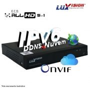 Dvr Stand Alone All 5 em 1 Luxvision ECD 16 Canais - AHD / HDTVI / HDCVI / IP / ANALÓGICO