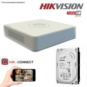 DVR Stand Alone Hikvision 16 Canais 720p Turbo HD + HD 500GB Pipeline de CFTV